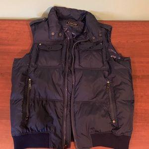 Coogi Puff Vest Navy Blue XL X-Large